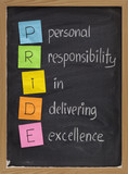 personal responsibility in delivering excellence poster