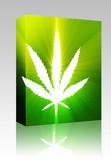 Marijuana leaf illustration box package poster