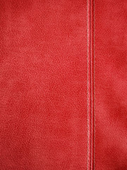 red leather with stitch background