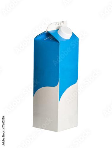 Leinwandbild Motiv Canister of yogurt isolated on white background