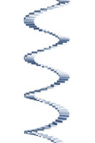 isolated 3d spiral staircase poster