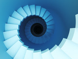 3d spiral staircase poster