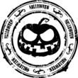 halloween round rubber stamp