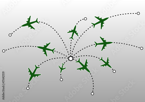 Airplane lines. Vector illustration.