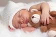 Leinwanddruck Bild - sleeping newborn