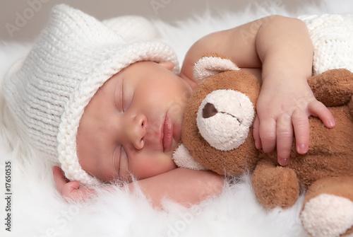 Leinwanddruck Bild sleeping newborn