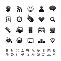 Black Deluxe Icons - Social Media Set