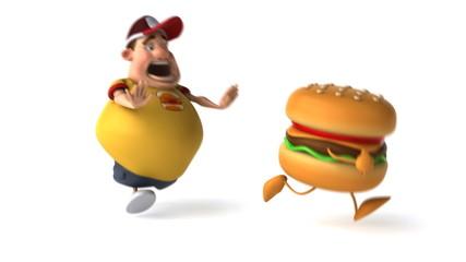 Adolescent et hamburger