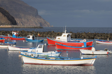 Fishing boats at Las Teresitas, Tenerife Spain