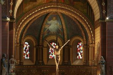 Kanzel-Kreuz der Kirche St. Peter Merzig