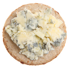 Stilton Cheese on Biscuit