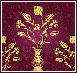 Ottoman antique golden vector design