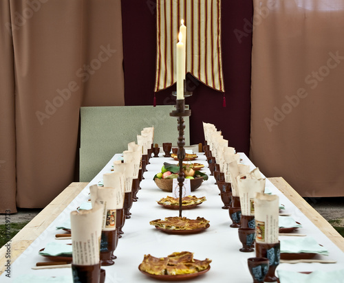 symmetric table prepared