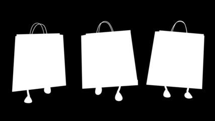 Walking  shopping bags 02 Loop