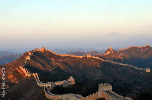 Fotobehang Chinese Muur sunrise