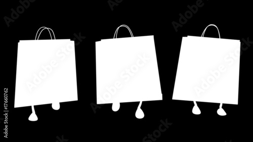 Walking  shopping bags 02 Loop
