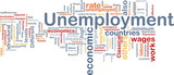 Unemployment word cloud poster