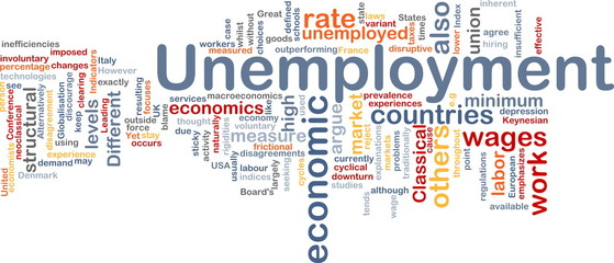 Unemployment word cloud
