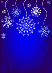 Christmas background with snowflakes (vector)