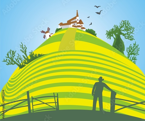 Leinwandbild Motiv Farming