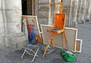 Street painter studio