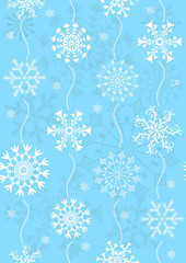 Seamless christmas blue pattern (vector)