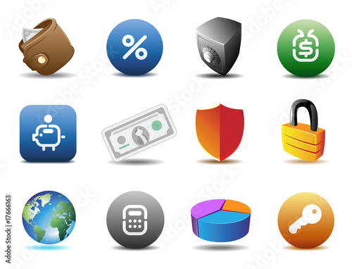 Finance and security icons
