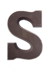 Chocolate letter S