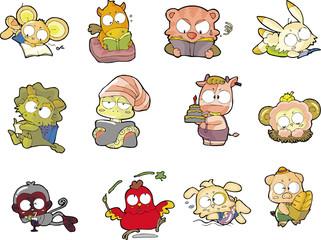 animal set twelve
