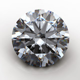 3d Round gems cut diamond perspective isolated on black poster