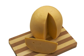 A Dutch Cheese with part off