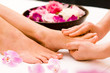 Leinwandbild Motiv Fußmassage