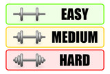 degrees of difficulty with barbell poster
