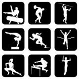 Athletic sports and gymnastics poster