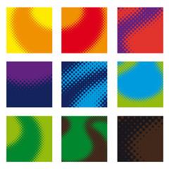 Gama de colores efectos trama