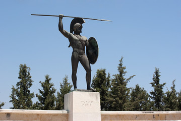 Statue of Leonidas in Thermopolis, Greece