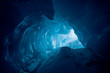canvas print picture - Ice cave