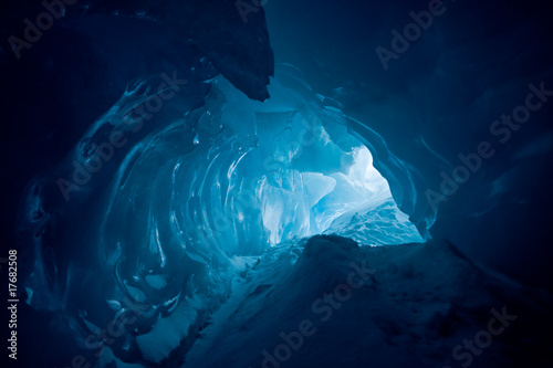 canvas print picture Ice cave