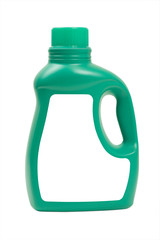 Laundry Detergent in Green Bottle