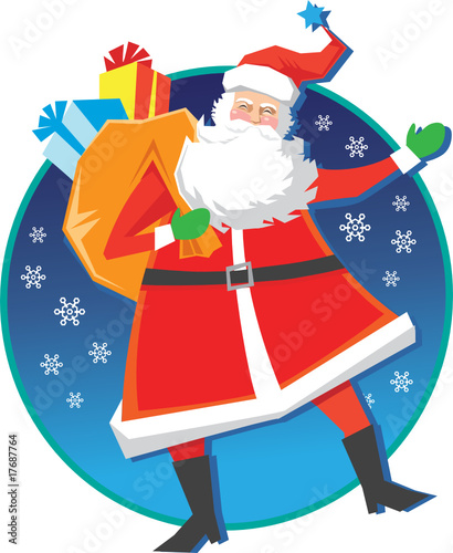 Happy Santa Claus Christmas Art