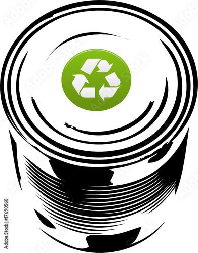 Banque d images libres de droits vecteurs et vid os fotolia - Boite de conserve recyclee ...