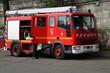 canvas print picture - Feuerwehrauto in Paris