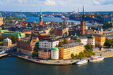 Fototapety Panorama of Stockholm, Sweden