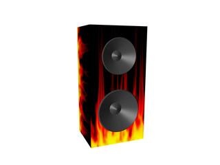 Lautsprecher Feuer abstrakt