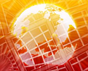 Globe USA wireframe