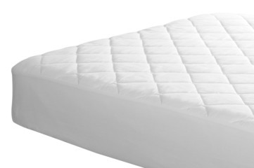 Mattress cover. Clipping path