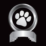 Pawprint in silver display