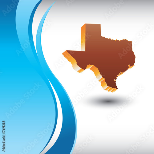 Texas icon on vertical blue wave background