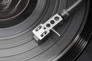 Tonarm von oben auf clear Vinyl
