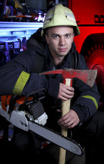Portrait of firefighter